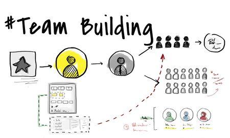 팀 빌딩 협업 개발 지원 스톡 콘텐츠 - 80864757