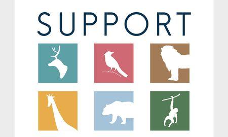 멸종 위기에 처한 동물 아이콘 그래픽 저장