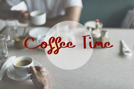 grabing: Coffee Time Good Morning Concept