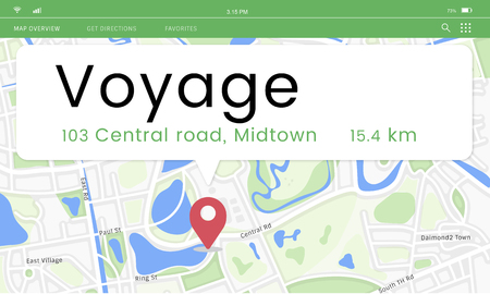 Mapa Posição GPS Posição Gráfico Foto de archivo - 80718291