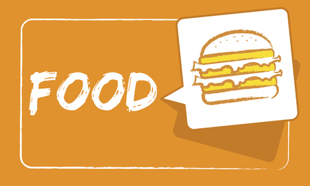 ハンバーガー ファーストフードのアイコン グラフィック