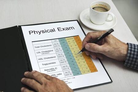 Medical Health Analysis Word Chart Stock Photo