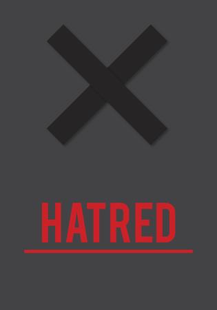 증오의 분노 희박한 부정적인 증오 연설 스톡 콘텐츠