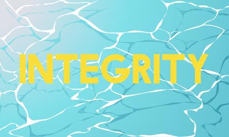 Principio de la moralidad Agua virtuosa Palabra gráfica Foto de archivo - 80717565