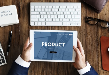 Tablet with product concept
