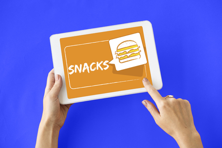 Burger Fast Food Icon Graphic Stock Photo - 80724660