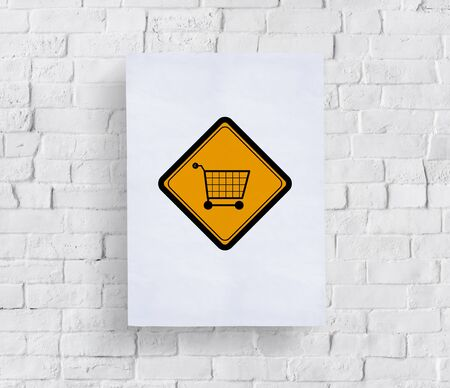 Showing Cart Trolley Shopping Online Sign Stock Photo