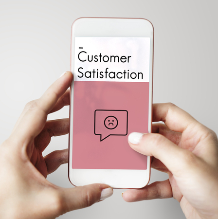 report icon: Review Evaluation Satisfaction Customer Service Feedback Sign Icon Stock Photo