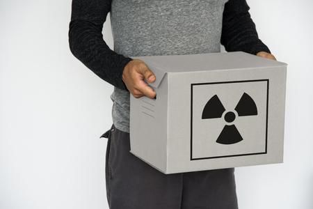방사능주의 경고 표지판 기호 스톡 콘텐츠