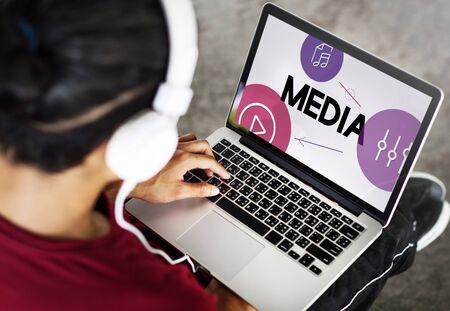 Music Streaming Media Entertainment Equalizer Zdjęcie Seryjne