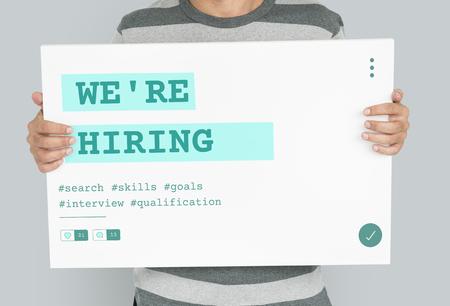 Job Career Hiring Recruitment Qualification Graphic Archivio Fotografico