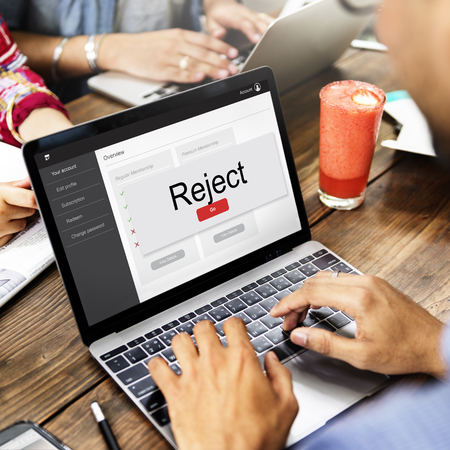 Cancel Reject Deny Warning Concept Reklamní fotografie