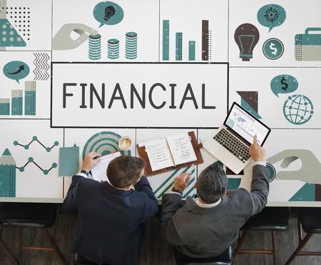 ビジネス人々 会議金融投資チャートのグループ
