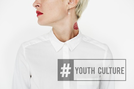 Hashtag Young Attitude Youth Power Banco de Imagens