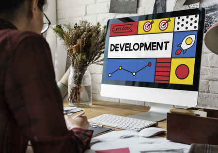 Development Research Strategy Success Word Stock Photo