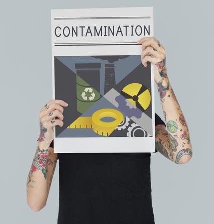 화학 오염 감염 오염 개념