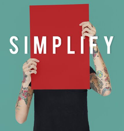 Simple Simplify Clear Easy Icon Stock Photo