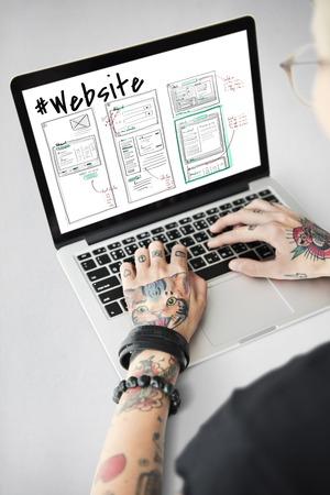 Webpagina Content Design Website Icon Stockfoto