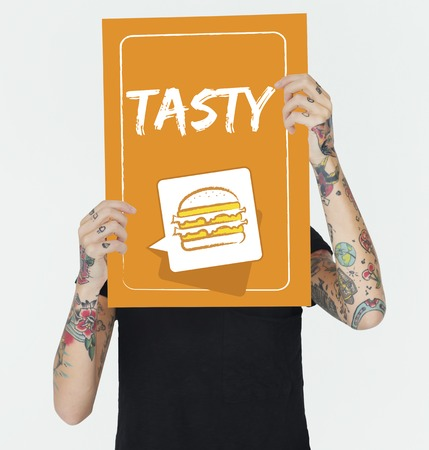 Burger Fast Food Icon Graphic Stock Photo - 80880267