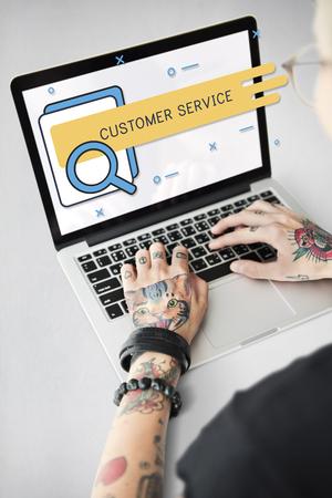 Klanttevredenheid Service Care Online Service Stockfoto - 80845683