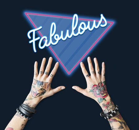 Fabulous Awesome Amazing Triangle Graphic Stock fotó