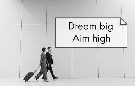 큰 목표를 꿈꾸십시오. 메시지 견본