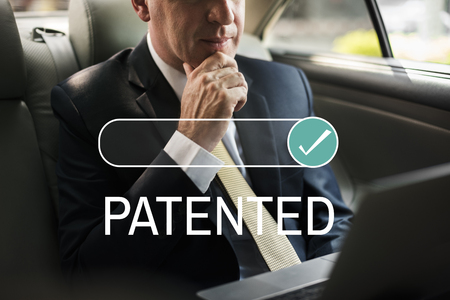 Patented License Assurance Tasted Verified Stock Photo