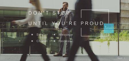 dont walk: Dont Stop Until Youre Proud Aspirations Motivation Stock Photo
