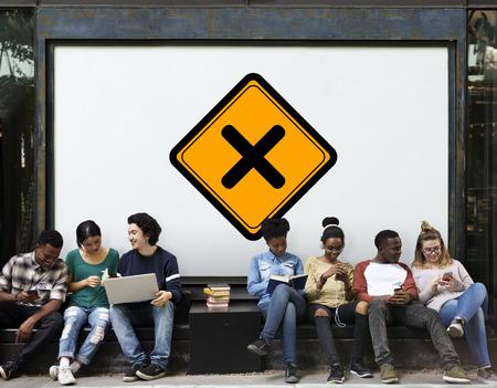 Cross No Prohibit Sign Icon