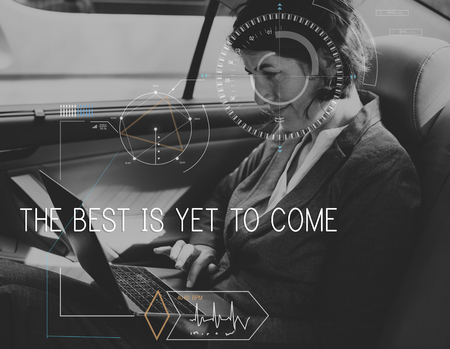 The Best Is Yet To Come Quote Message Motivation Banco de Imagens