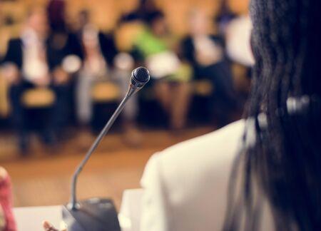 Speaker Presentation International Conference Partnership Stock fotó