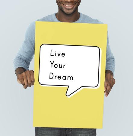 begin: Live Your Dream Action Begin Start Doing Stock Photo