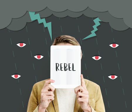 rebellion: Bolt Rage Madness Rebel Revolution Resentment Stock Photo