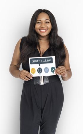 Afrikaanse vrouw vrolijk portret concept Stockfoto