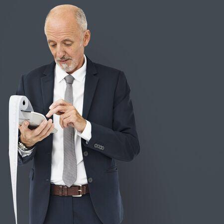 Businessman Calculator Finance Male Man Concept