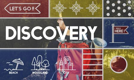 enviroment: Discovery Pioneer travel outdoors graphic Stock Photo