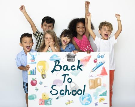 Kinderen terug naar School Onderwijs Study Graphic