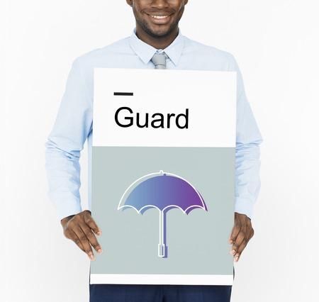 menace: Warranty Security Safety Protection Guard Guarantee Umbrella Icons Symblos