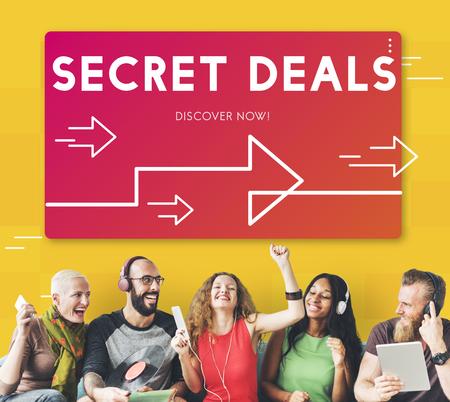 Secret Deals Promotion Retail Seller Banco de Imagens