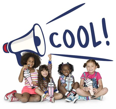 Cool Kids Megaphone Speaker Graphic