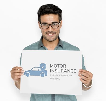 自動車保険事故の利点 写真素材