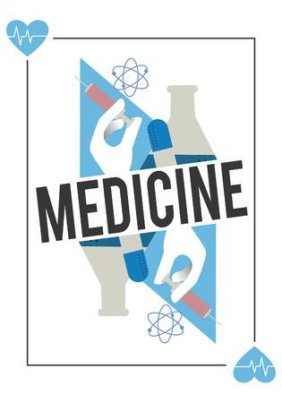 健康医学治療ウェルネスのコンセプト