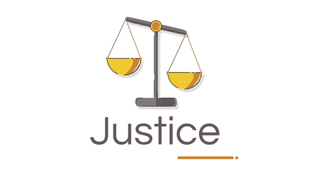 Illustration of justice judgement scale
