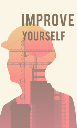Improve yourself poster design Stock Photo - 113767935