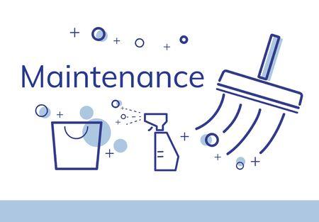 Illustration des Reinigungsdienstes der Wohnung Standard-Bild - 80789275