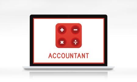 Accountant Wiskunde Financiële Handel Berekenen Stockfoto - 80789282