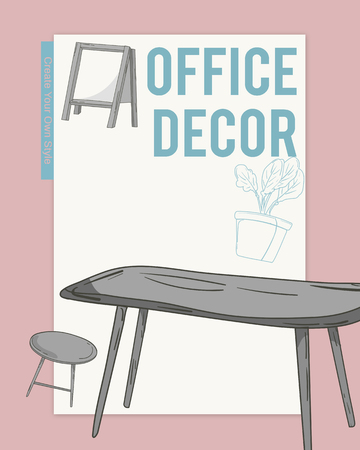 Living Interior Style Decor Space Office Banco de Imagens