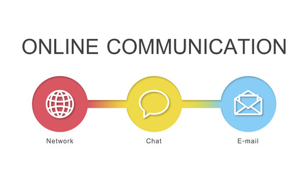 Online communication concept