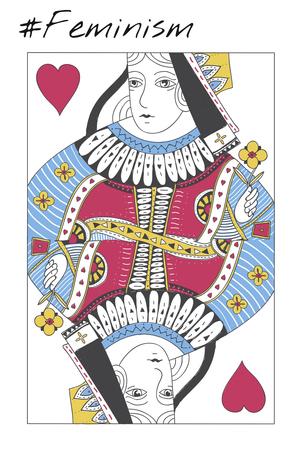 Women Rights Queen Card Concept Stok Fotoğraf