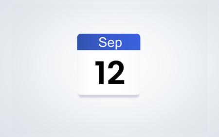 12th Sept Calendar date